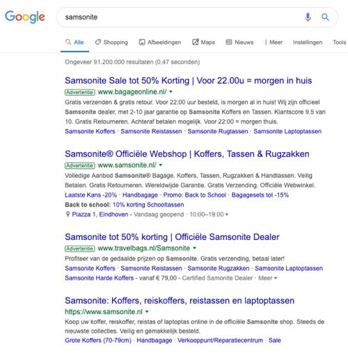 Adverteren op bedrijfsnaam Google